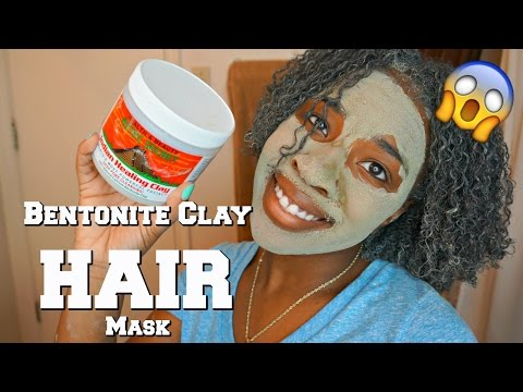 NATURAL HAIR   Bentonite Clay Hair Treatment Review + Demo