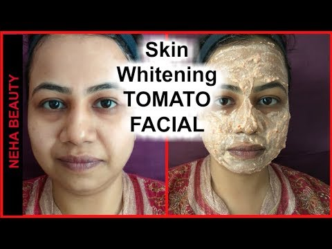Skin Whitening Tomato Facial | Get Fair, Glowing, Spotless Skin Permanently |Neha Beauty