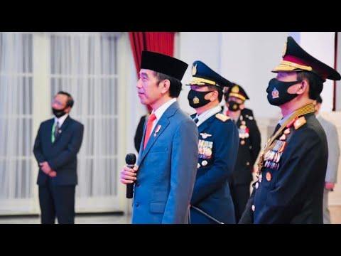 Presiden Jokowi Pimpin Peringatan ke-74 Hari Bhayangkara, Istana Negara, 1 Juli 2020