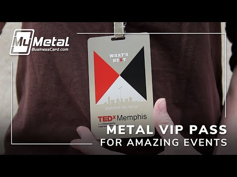 Exclusive Stainless Steel VIP Passes