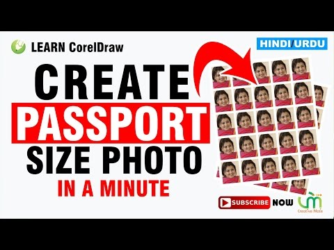 HOW TO MAKE PASSPORT SIZE PHOTO IN CORELDRAW LIKE PHOTOSHOP | HINDI/URDU
