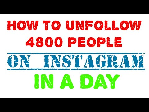 How to unfollow people / unfollowers on Instagram without getting blocked 2017 #working