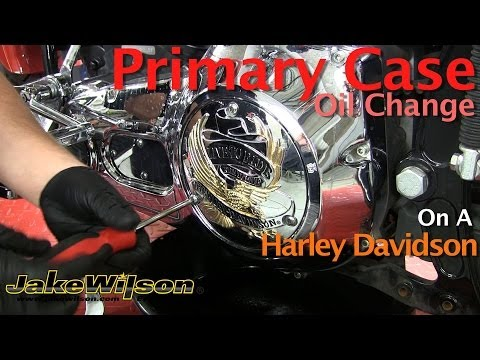 Harley Davidson Primary Case Oil Change & Primary Chain Adjustment