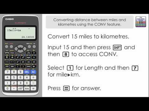 Convert between miles & km, kph & mph, using the CONV (Conversion) feature [Casio Classwiz]