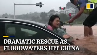 Dramatic rescue as nearly 14 million people affected by floods in China