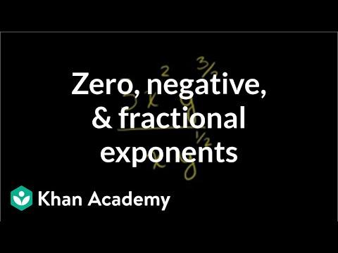 Zero, negative, and fractional exponents   Pre-Algebra   Khan Academy