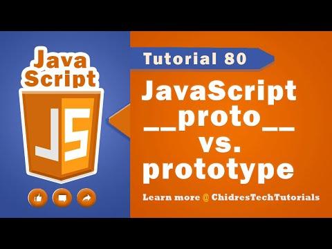 JavaScript tutorial 97 - prototype object &  __proto__