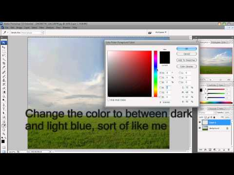 Photoshop: How to enhance/change the color of the sky and grass tutorial