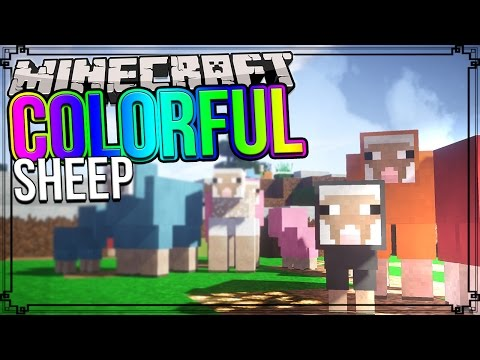 How To Color/Dye Sheep In Minecraft! [Works For Minecraft PE]