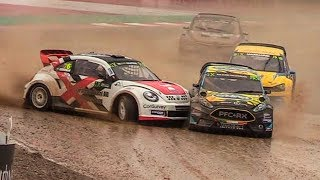 FIA WRX CatalunyaRX Barcelona 2018 (Day 1) Pure Sound - Big Show, Rain and Close Racing