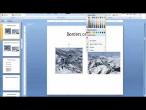 Borders on Pictures in PowerPoint