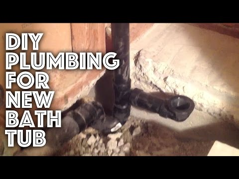 Bathtub Plumbing - New Installation
