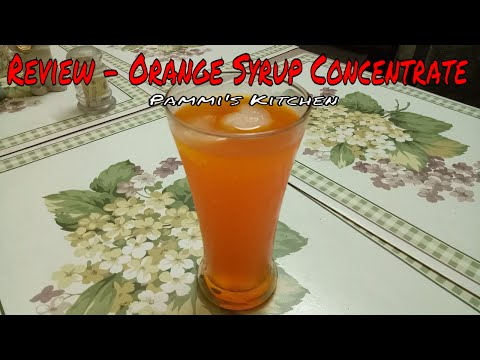 Review - Orange Syrup Concentrate - Orange Sherbet Concentrate - Select Flavours India Ltd