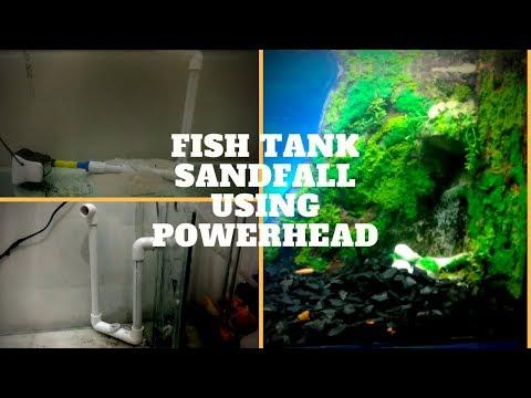 How To Make Aquarium Sandfall Using Powerhead | The Indian Fishkeeper