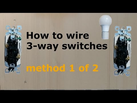 How to wire a three way (3-way) switch, method 1