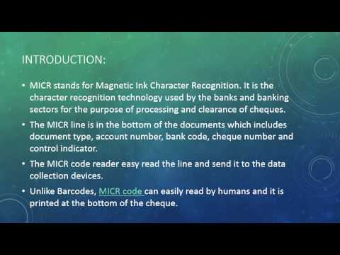 What is MICR code