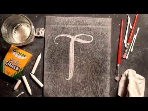 SheShe Design Chalk Script Lettering UPPERCASE T