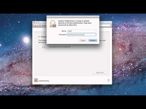 How to turn Firewall On / Off on a Mac