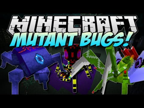Minecraft | MUTANT BUGS! (New Mobs and BOSSES!) | Mod Showcase [1.5.2]
