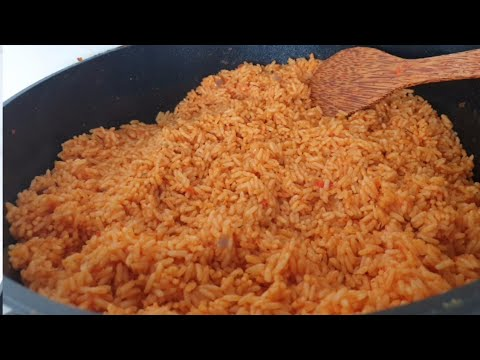 JOLLOF RICE RECIPE with clear instructions