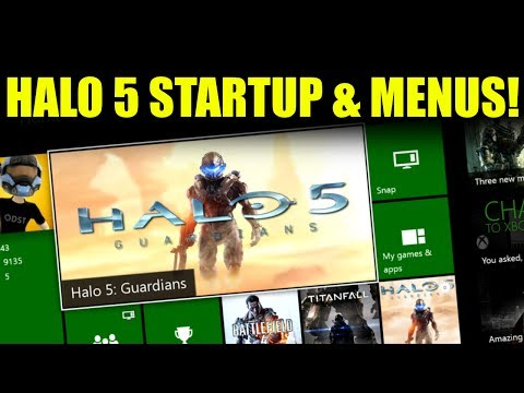 Halo 5: Guardians - Startup & Menus on Xbox One!