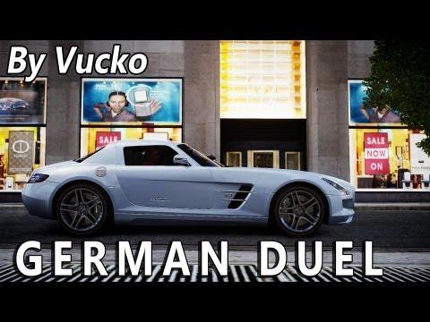 GTA IV - German Duel [Porsche GT2 vs MercedesSLS]
