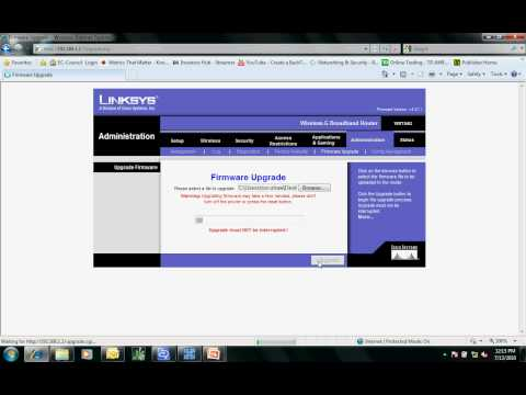 Install DD-WRT firmware on a Linksys Router