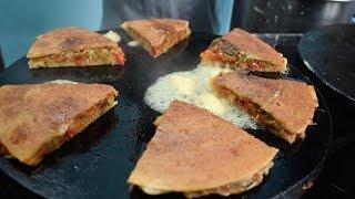 BUTTER LOADED Uttapa Sandwich   Double Layered Uttapam   Indian Street Food