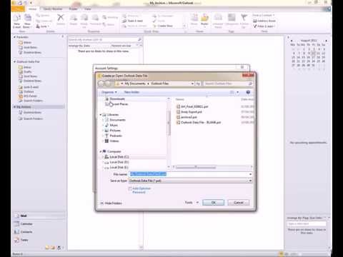 ADD Archive Outlook 2010