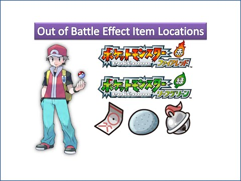 Pokemon Fire Red & Leaf Green - Out of Battle Effect Item Locations