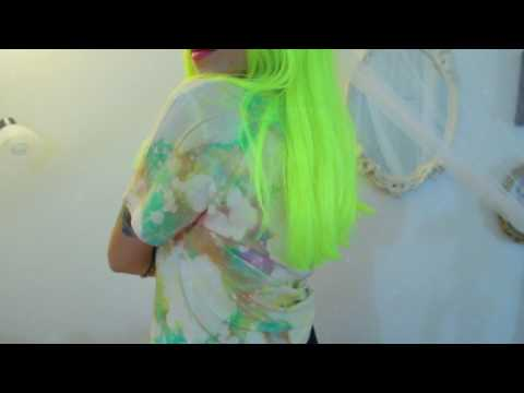 Bright Tie dye shirt/ iMovie edit