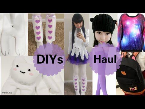 Winter DIYs: DIY Cat Scarf + Leg Warmers + Newdress Cheap Haul (Galaxy, thigh highs, backpack+ more)