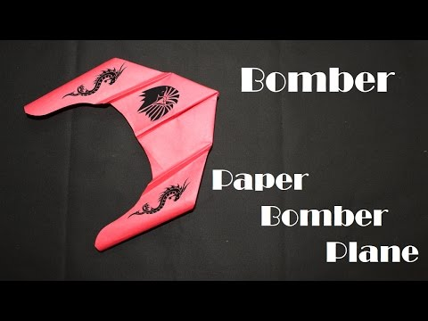 How to make a Paper plane - The best Bomber paper plane (Paper Craft) Creative X