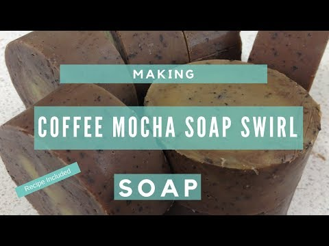 How to Make Coffee Mocha Soap Swirls - Recipe Included