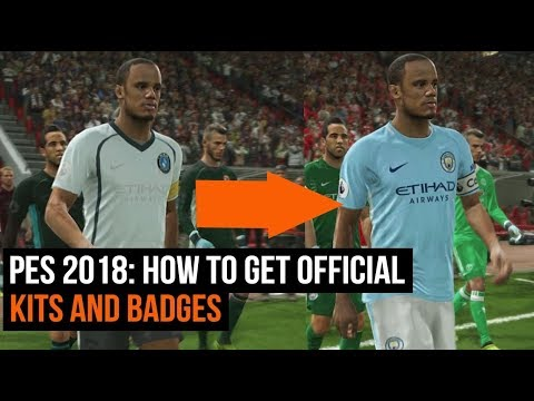 PES 2018 - How to get all the official kits and badges with an option file