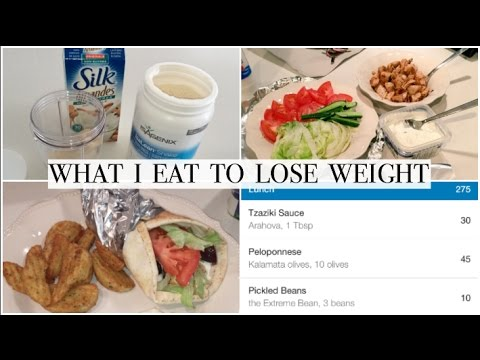 WHAT I EAT TO LOSE WEIGHT | BACK TO CALORIE COUNTING | + EASY CHICKEN SOUVLAKI PITAS