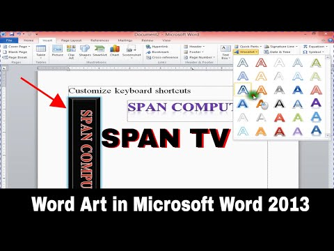 How to use Word Art in Microsoft Word 2013 HD
