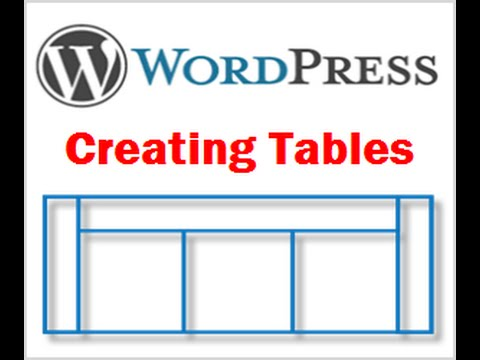 How to add table in wordpress posts and pages