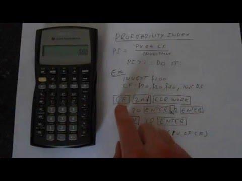 TI BA II Plus How To Calculate The Profitability Index