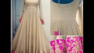 latest white color floor length anarkali dress