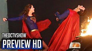 "Supergirl 2x22 Finale ""Supergirl vs Superman"" Set Photos"