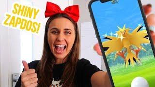 RAIDING SHINY ZAPDOS! Pokemon GO | ZoeTwoDots
