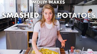 Molly Makes Crispy Smashed Potatoes | From the Test Kitchen | Bon Appétit