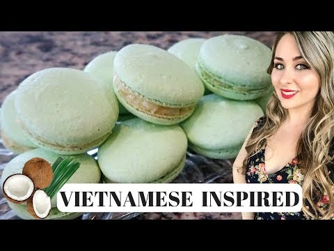 (How To) French Macarons | Pandan with Coconut Buttercream | Mother's Day Recipe