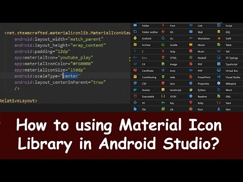 How to using Material Icon Library in android studio.Easy step by step and faster with Best iCon Lib