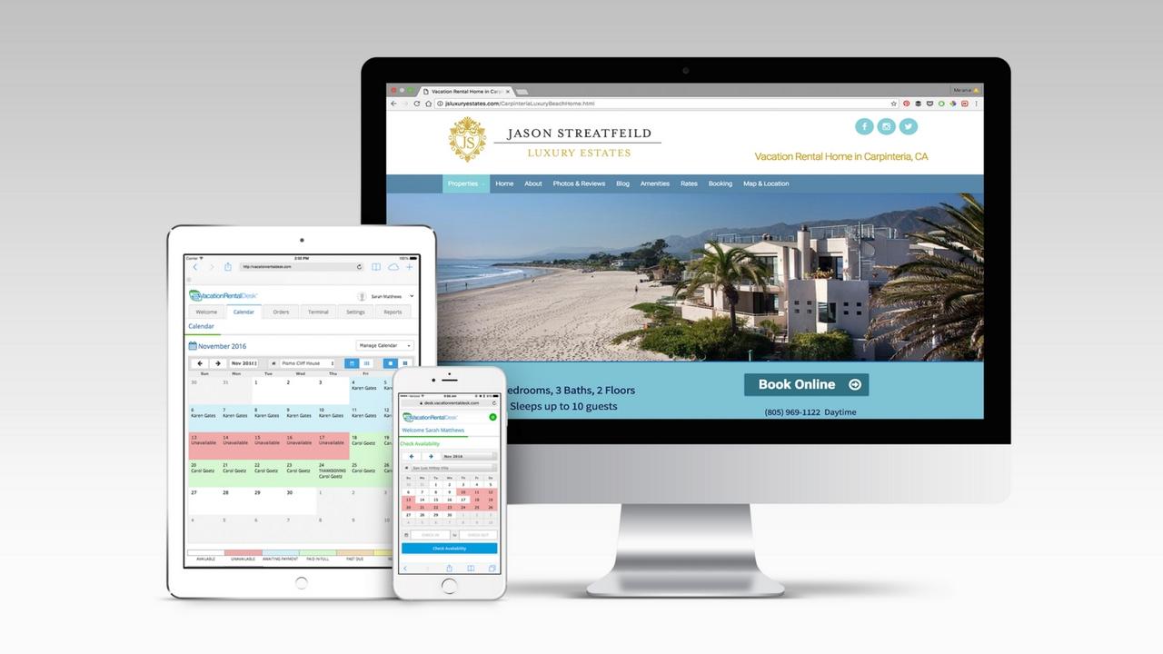 Vacation Rental Desk Websites & Booking Software