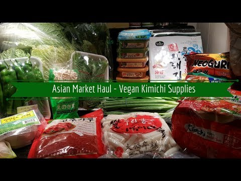 Asian Market Haul - Vegan Kimchi Supplies