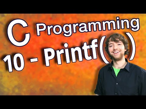 C Programming Tutorial 10 - C Basics Part 2 - Print Variables Using Printf