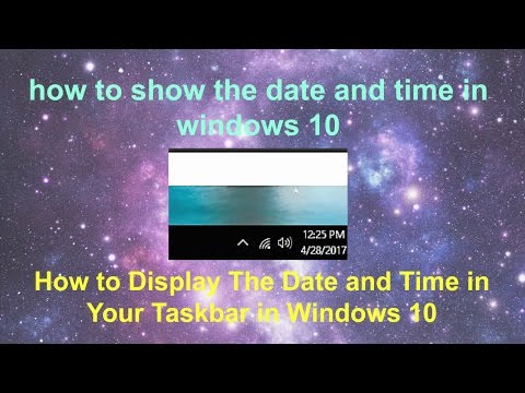 How to Show The Date and The Time in Windows 10 | Display Date and Time in Taskbar Windows 10