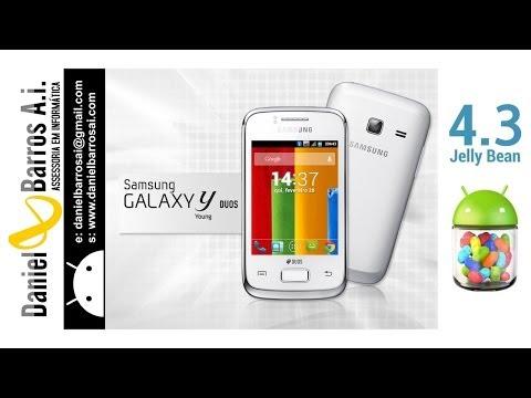 Tutorial Android 4.3 Jelly Bean by Daniel Barros A.i. para Samsung Galaxy Y DUOS